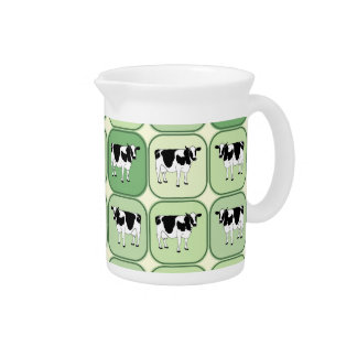 Tiled cows pattern pitcher