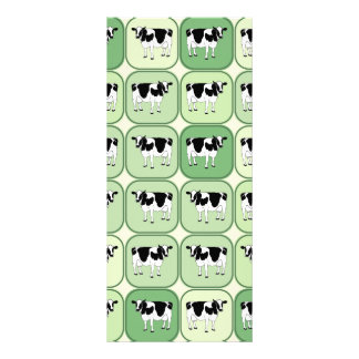 Tiled cows pattern rack card template