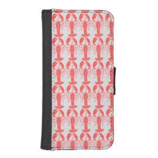 Tiled Crawfish Pattern Wallet Phone Case