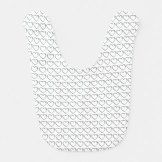 Tiled Crayon Scribble Heart Bib