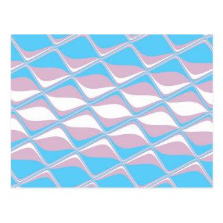 Tiled Transgender Pride Flag Postcard
