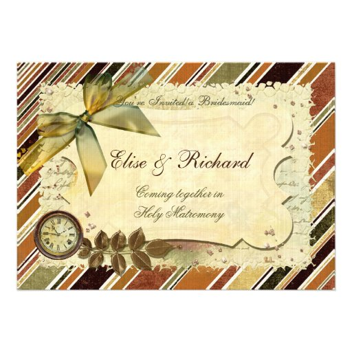 Till The End of Time Victorian WEDDING Personalized Invites