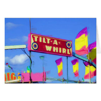 Tilt a Whirl State Fair Ride, Indianapolis, IN Card