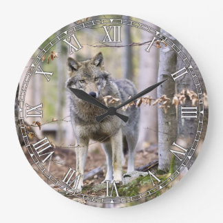 Timber Wolf Decorative Wall Clock