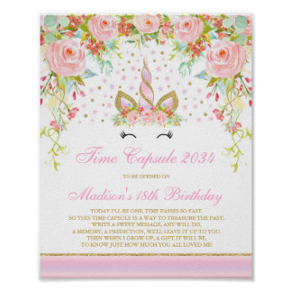 Time Capsule Unicorn Time Capsule Baby Guest Book