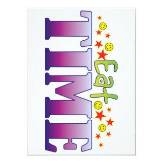 Time Eat 14 Cm X 19 Cm Invitation Card