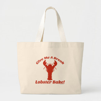 Time For A Lobster Bake! Large Tote Bag
