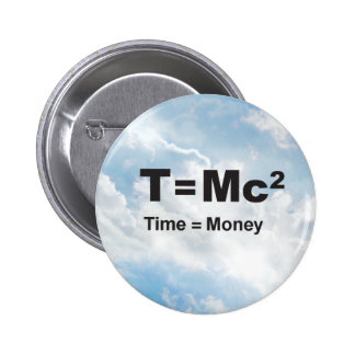 Time = Money - Clouds Round Button