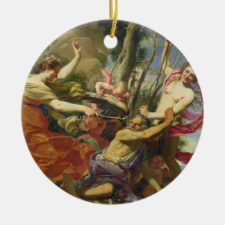 Time Overcome by Youth and Beauty Christmas Ornament