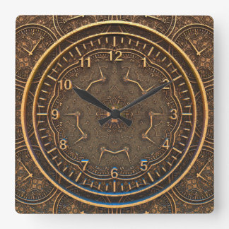 TIME SCRIBE | an ancient style Square Wall Clock