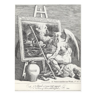 Time smoking a picture by William Hogarth Postcard