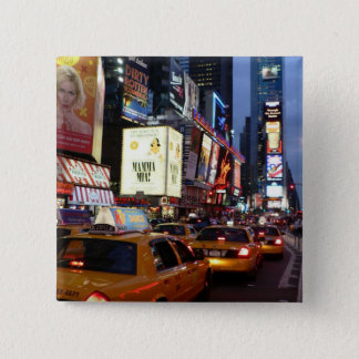 Time Square Taxis 15 Cm Square Badge