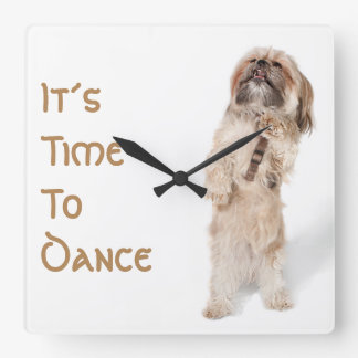 Time to Dance Square Wall Clock