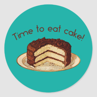 Time to Eat Cake Classic Round Sticker