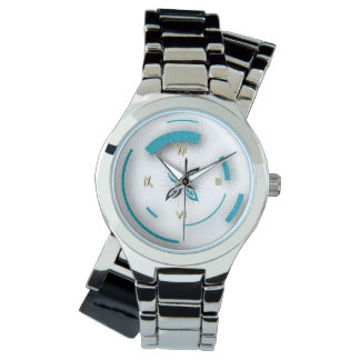 """""""Time Will Tell"""" Wraparound Silver Watch"""