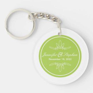 Timeless Charm Wedding Keychain Favor - Celery