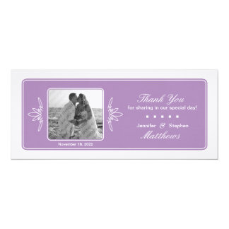 Timeless Charm Wedding Photo Thank You - Orchid Card