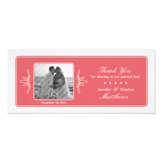 Timeless Charm Wedding Photo Thank You - Rose Card