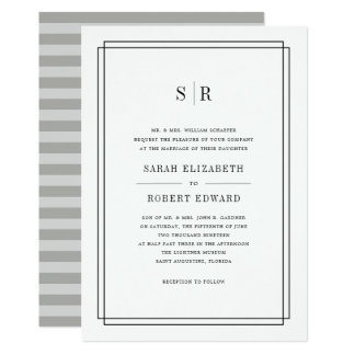 Timeless Monogram Wedding Invitation