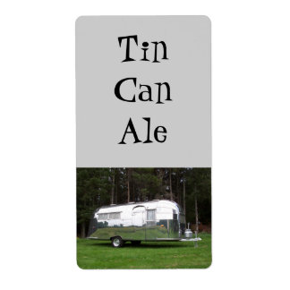 Tin Can Ale Camping Travel Trailer RV Brew Labels