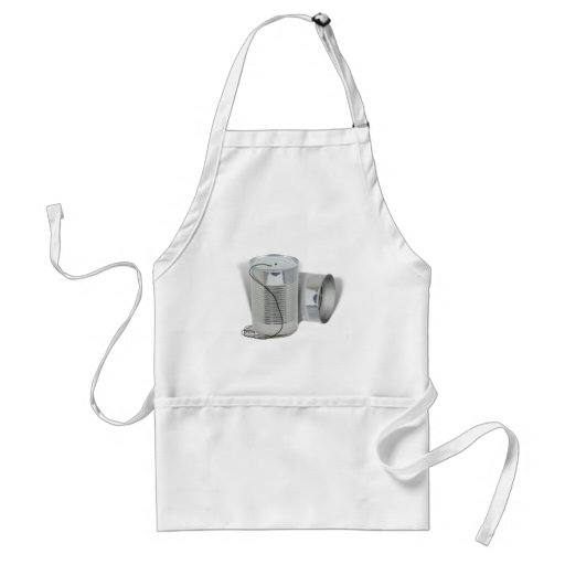 Tin Can Phone (Can you hear me NOW?) Apron