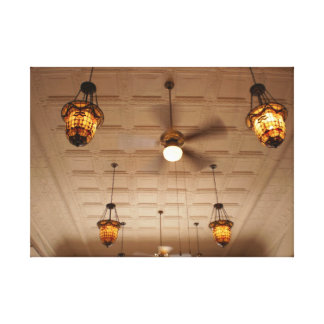 Tin Ceiling Stretched Canvas Print