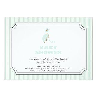 tiny bird {baby shower invitation} card