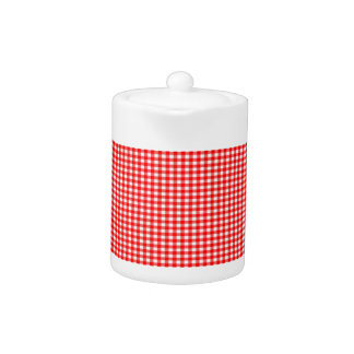 tiny check red and white Gingham