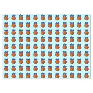 "Tiny Cute Lil' Pumpkin with Blue Bowtie 17"" X 23"" Tissue Paper"