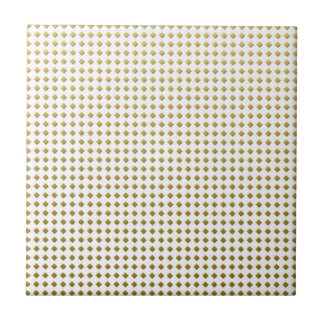 Tiny Diamonds Squares Golden Yellow Pattern Tile
