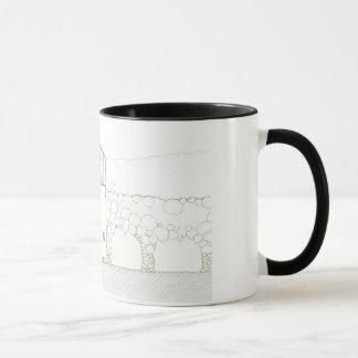 Tiny House Black & White Architecture Ink Drawing Mug