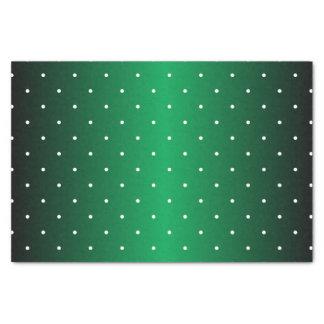 Tiny Polka Dots on Shiny Green Tissue Paper
