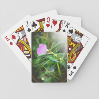 Tiny Purple Bloom Playing Cards, Standard Playing Cards