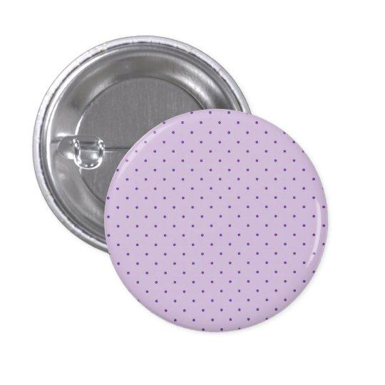 Tiny Purple Polka-Dots on Light Purple 3 Cm Round Badge