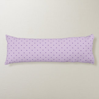 Tiny Purple Polka-Dots on Light Purple Body Pillow Body Cushion