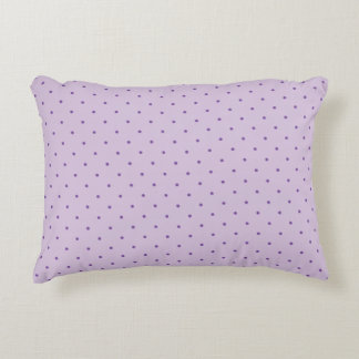 Tiny Purple Polka-Dots on Light Purple Pillow Accent Cushion