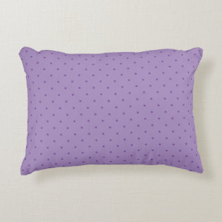 Tiny Purple Polka-Dots on Purple Accent Pillow