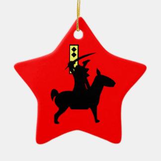 Tiny Samurai Christmas Ornament