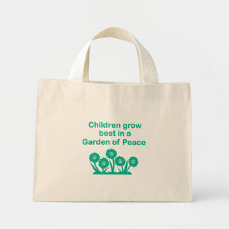Tiny Tote with Garden of Peace message