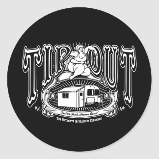 Tip Out II Classic Round Sticker