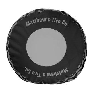 Tire Company Personalized Pouf