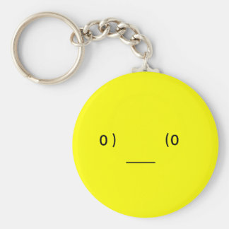 tired (Japanese ) smiley Key Ring