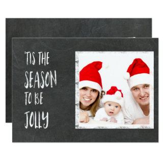 Tis the Season Chalkboard with Photo Card