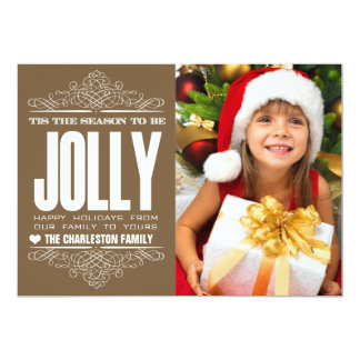 Tis The Season Christmas Holiday Family Photo Card