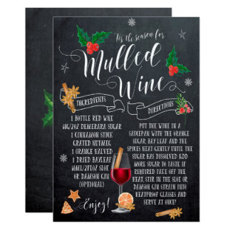 Tis the Season mulled wine christmas holiday card