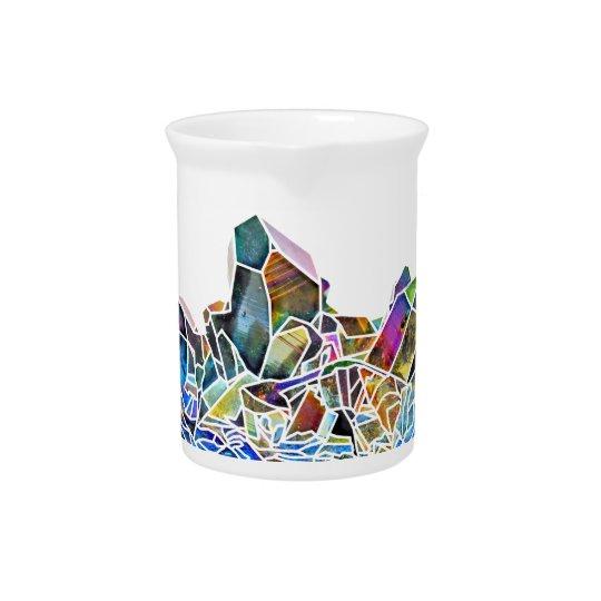 Titanium Quartz Healing Crystal Art Rainbow Aura Pitcher