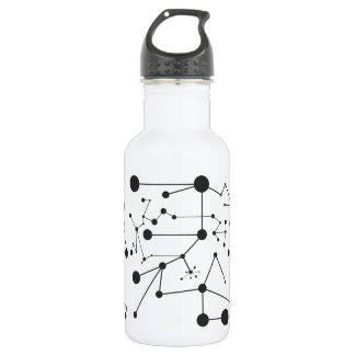 Titik Garis One Water Bottle (18 oz), White