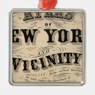 Title Page Atlas of New York, vicinity Christmas Ornament