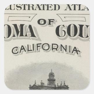 Title Page Atlas Sonoma County, California Square Sticker