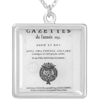 Title page of the first collection of 'La Silver Plated Necklace